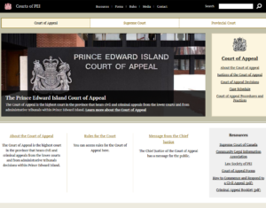 The Courts of PEI